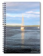 Evening Sail In Frenchman's Bay Spiral Notebook