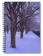 Evening Snow Path At Waterfront Park Burlington Vermont Spiral Notebook