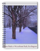 Evening Snow Path At Waterfront Park Burlington Vermont Poster Greeting Card Spiral Notebook