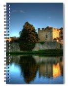 Evening Sun At Leeds Castle Spiral Notebook