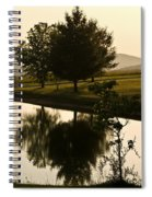 Evening Tide On The Farm Spiral Notebook