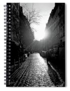 Evening Walk In Paris Bw Spiral Notebook