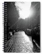 Evening Walk In Paris Bw Squared Spiral Notebook