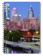 Evening Walk In Philly Spiral Notebook