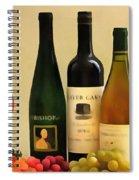 Evening Wine Display Spiral Notebook