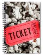 Event Ticket Lying On Pile Of Popcorn Spiral Notebook