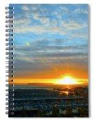 Everett Marina Sunset Spiral Notebook
