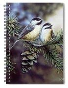 Evergreen Chickadees Spiral Notebook