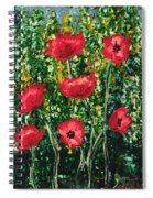 Every Dream Turns Up Poppies Spiral Notebook