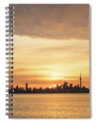 Every Morning Is Different - Toronto First Sunrays In Cyber Yellow  Spiral Notebook