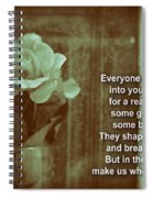 Everyone Comes Into Your Life For A Reason. Motivational Quote Spiral Notebook