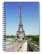 Eviffel Tower With Fountains Spiral Notebook