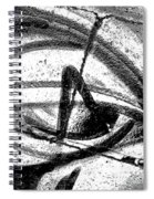 Evil Eye Black And White Spiral Notebook