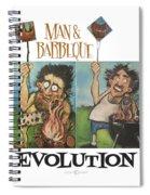 Evolution Poster Spiral Notebook