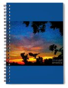 Exagerated Sunset Painting Spiral Notebook