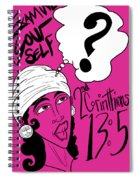 Examine Yourself-woman Spiral Notebook