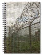 Exercise Yard Through Window In Prison Spiral Notebook