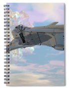 Exiting A Worm Hole Spiral Notebook