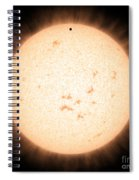 Exoplanet Hd 219134b In Front Of Star Spiral Notebook