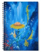 Exotic Colorful Flowers Abstract Composition Spiral Notebook