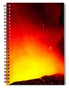 Exploding Lava At Night Spiral Notebook