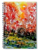 Exploding Nature Spiral Notebook