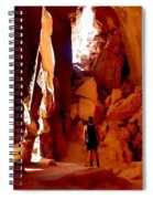 Exploring A Cave Spiral Notebook