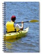 Exploring In A Kayak Spiral Notebook