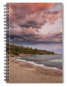 Explosion Of Colored Clouds Spiral Notebook