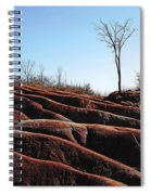 Exposed And Eroded Badlands Spiral Notebook