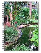 Expressionalism Beautiful Garden  Spiral Notebook