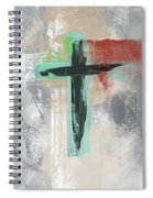 Expressionist Cross 3- Art By Linda Woods Spiral Notebook