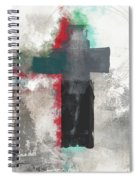 Expressionist Cross 4- Art By Linda Woods Spiral Notebook