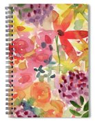 Expressionist Fall Garden- Art By Linda Woods Spiral Notebook