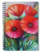 Expressionist Poppies Spiral Notebook