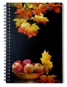 Expression Of Yellow Leaves. Spiral Notebook