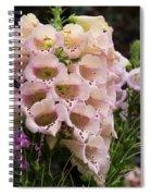 Exquisite Elegant English Foxgloves Spiral Notebook