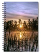 Exquisite Sunrise On The Androscoggin River 2 Spiral Notebook