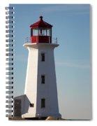 Exterior Of Peggys Cove Lighthouse, Nova Scotia, Canada Spiral Notebook