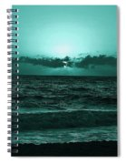 Extreme Green Sunset  Spiral Notebook