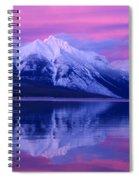 Extreme Sunset On Lake Mcdonald Spiral Notebook