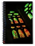 Exuberant Stained Glass Windows Spiral Notebook
