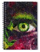 Eye And Butterflly Vegged Out Spiral Notebook