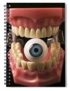 Eye Held By Teeth Spiral Notebook