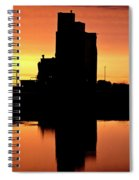 Eyebrow Gain Elevator Reflected Off Water After Sunset Spiral Notebook
