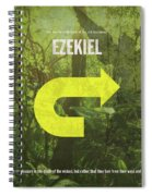 Ezekiel Books Of The Bible Series Old Testament Minimal Poster Art Number 26 Spiral Notebook