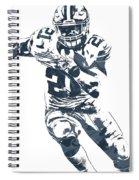 Ezekiel Elliott Dallas Cowboys Pixel Art 3 Spiral Notebook