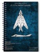 F-117 Nighthawk  Spiral Notebook