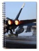 F 18 Hornet-aircraftcarriers Spiral Notebook