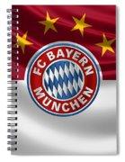 F C Bayern Munich - 3 D Badge Over Flag Spiral Notebook
